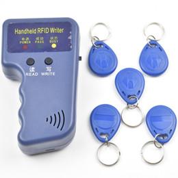 Wholesale Id Card Readers - 125KHz RFID ID Card Reader & Writer Copier Duplicator Programmer + 5pcs Writable EM4305 T5577 Tags Access Control