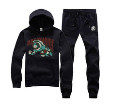 Wholesale Black Block Clothing - hip hop mens set matching couple hoodies ans pants sports skateboard pullover suit BBC men Color-Block Clothes