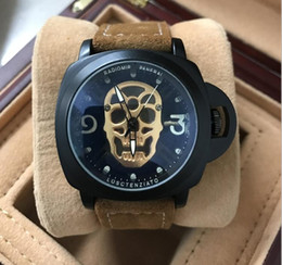 Wholesale Skull Fashion Glasses - Casual Fashion Skeleton Watches men Luxury brand Army Skull sport quartz watch mele wristwatch drop shipping