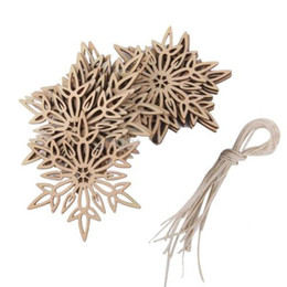 Wholesale Wooden Snowflakes - New 10pcs Wooden Snowflake Ornaments Christmas Xmas Tree Party Home Hanging Decors