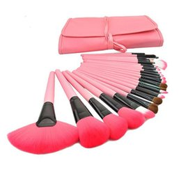 Wholesale 24 Brushes Pink - Top Quality 24 pcs Makeup Brushes Portable Brush with 3 Colors Makeup Brushes Makeup Kit by DHL Shipping