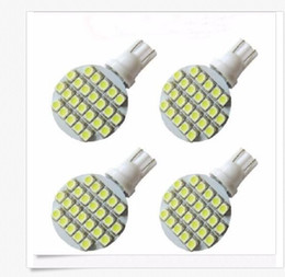 Wholesale Light 921 - 50PCS Wedge T10 24 SMD LED 194 921 W5W 1210 147 168 192 RV Light Lamp Bulbs White wholesale price