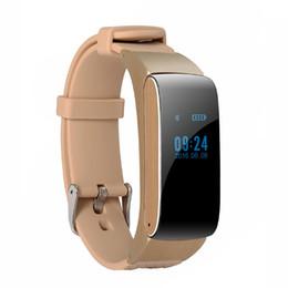 Wholesale Wrist Bluetooth Headset - DF22 multi-function bluetooth headset watch Digital Wrist Calories Pedometer Track Fitness Sleep Monitor Smart Bracelet in retail box