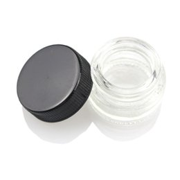Wholesale Container Glass - Food Grade 5ml Non-Stick Glass Container Wax Dab Oil Jar 5ml Dabber Dry Herb Concentrate Container E cigs Cigarette DHL