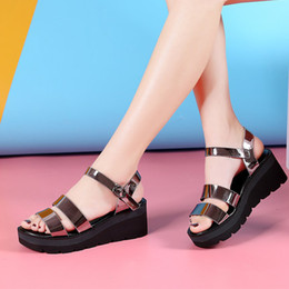 Wholesale Drag Platform Slippers - Women Platform Shoes Sandals Wedges Women High heels Sandals drag 2017 New Summer Beach Slippers fashion Shoes Woman