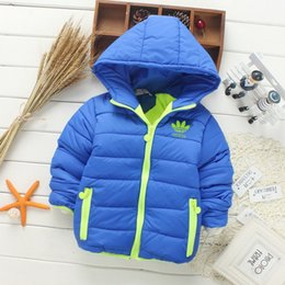 Wholesale Girls Casual Jackets Cardigan - 2017 autumn winter children thick warm outwear hooded jacket boys girls down jacket leisure zipper cardigan jogging brand coat Free shipping