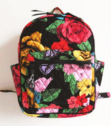 Wholesale Tile Lighted - VB School Bag Leighton Backpack in Havana Rose Cuban Tiles Campus Backpack Travel College 100% real
