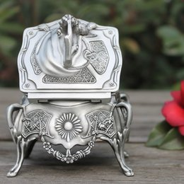 Wholesale Antique Japanese Box - Brass Crafted Human Handwork arrival metal jewelry box with delicate flower pewter plated trinket gift wedding Decoration Tibetan Silver