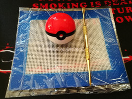 Wholesale Waxed Sheets - Silicone Wax Kit Set with sheets pads mats 6ml pokeball silicon container long gold silver ceramic dabber tool for dry herb jars dab