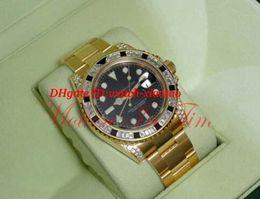 Gelbgold saphir armbänder online-Luxusuhren Stahlarmband II 40mm Gelbgold Diamant Black Sapphire Lünette 116758 Automatische Mechanische Armbanduhr