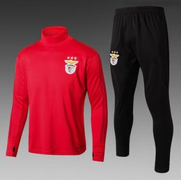 Wholesale Lopez Long Sleeve - 2017-2018 new high quality benfica training suit jerseys LOPEZ SALVIO RAUL JIMENEZ JONAS Sports Wear Shirts with free delivery long sleeve