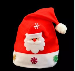 Wholesale Santa Hats For Kids - fightinpc Kid Cheer Christmas Hat Children Santa Claus Reindeer Snowman Party Cute Cap wedding decoration For Adults And Kids