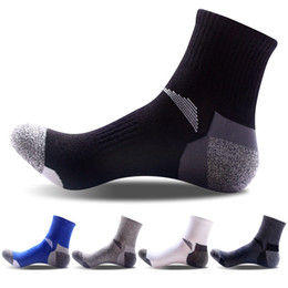 Wholesale Professional Tennis Wear - Professional Wear-resistant Anti-skid Men's Sports Socks Stitching Thick Cotton Quick Drying Soft Business Comfort Foreign Trade Sock Meias