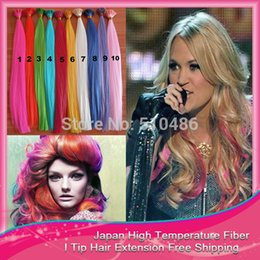 Wholesale Grizzly Straight - Wholesale-Free Shippping 1000pcs lot Feather Loop Hair Extension Natural Wholesale 16'' Grizzly Synthetic Ring I Tip Hair Extensions