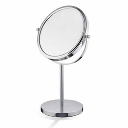 Wholesale Make Cast Iron - KG 6 Inch 7 Inch 8 Inch Tabletop Swivel Mirror Double Sided Make Up Mirror Metal Color Chrome plated