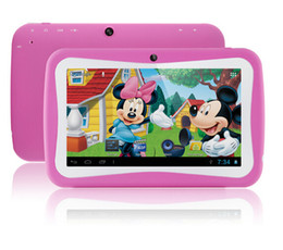 Wholesale Green Color Tablet Pc - Tablets for Kids 7 inch Education Mini Tablet PC RK3126 Quad Core Android 5.0 Bluetooth 512MB+8GB Kids Games Apps