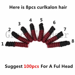 Wholesale Brazilian Jerry Curl Hair Weave - curl kalonfreetress crochet hair extensions brazilian hair bundles pre looped savana jerry Curly Braids synthetic braiding hair Ombre Weaves