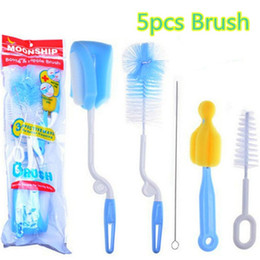 Cepillo de salida online-5 unids Botella de Alimentación Del Bebé Nipple Teat Spout Tube Brush Drinking Pipe Cleaner