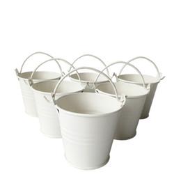 Bonbons de pâques pas cher en Ligne-Pot à œufs de pâques en gros petits seaux bon marché en tôle, mini-seaux, seau en métal, seau à bonbons / paquet / pour décoration de mariage
