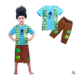 Wholesale Kids Christmas Pyjamas Wholesale - Trolls Pajamas Sets 2017 Summer Cartoon Boys Clothes Short Sleeve Cotton Baby Pajamas Kids Pajamas Kid Pyjamas Sets Baby Sleepwear 50