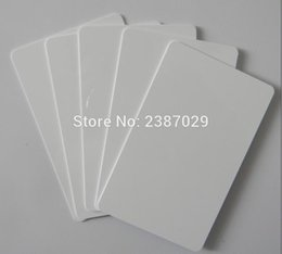 Wholesale Inkjet Pvc - Wholesale- CR80 30mil Plastic PVC Inkjet Blank Card for Epson  Canon Inkjet Printer 10pcs lot