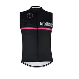 Wholesale Bike Vests - Summer Tour de Italy cycling jersey Men sleeveless vest Quick dry bicicleta bike MTB Bicycle Clothing Outdoor D0625