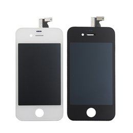 Wholesale Digitizer For 4s 4gs - A+++++ High Quality For iphone 4S 4GS iphone4S GSM OEM JDF Full Front Glass LCD Display Digitizer Touch Panel Screen Assembly With Frame