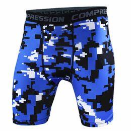 Wholesale Wholesale Mens Casual Wear - Wholesale- Summer Leisure Shorts Men Camouflage Shorts Elastic Brand Mens Fitness Wear Trousers Men Bodybuilding Shorts