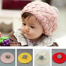 Crianças Caps Bebê Maçã Boinas De Lã Chapéus Para A Menina Rosa Vermelho Bege Amarelo 50 pçs / lote CC582 de Fornecedores de uniformes de cozinha
