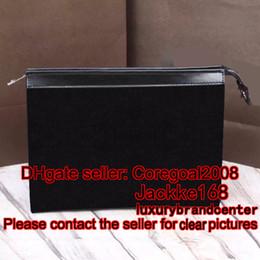 Wholesale Mens Designer Leather Wallets - POCHETTE VOYAGE MM mens Eclipse canvas POUCH bag designer Satchel handbag small zip Wallet LEATHER PURSE CLUTCH N41631 M61692 M47542