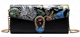 Wholesale Hot Paintings Women - Free Shipping!2017 Hot Sell Newest Classic Fashion Style chinese style Lady Dionysus Genuine Leather top handle bag hand-painting bag #3001