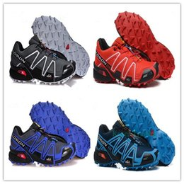 Wholesale Rubber Walking Shoes - 2017 New Zapatillas Speedcross 3 Running Shoes Men Walking Ourdoor Sport shoes Athletic Shoes Size 40-46