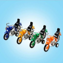 Wholesale plastic motorcycle toys - 5 string of new strange toy car children's educational toys back to power motorcycle creative toys small toys creative wholesale