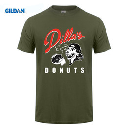 Wholesale Mf Black - Mens t shirts Dillas Donuts T Shirt Delicious Vinyl Jay Dee J Dilla Hip Hop MF DOOM Madlib Cotton O NECK short sleeved t-shirt
