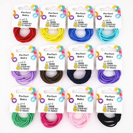 Wholesale Hair Accessory Cards Wholesale - hot sale Colorful elastic hair rope for girls 10pcs card high quality children hair accessories mix color order