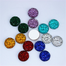 Wholesale 12mm Crystal Beads - 12mm 200pcs Acrylic Crystal Superior Taiwan Flat Back Acrylic Round Circle Shape Acrylic Rhinestone beads ZZ222