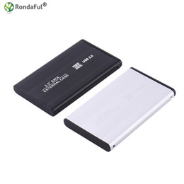 Wholesale Hard Disk Packaging Box - Wholesale- Aluminum Alloy Serial USB 2.0 SATA HDD Enclosure Case External 2.5 Inch Drive Box For Laptop Hard Disk Cover With Retail Package