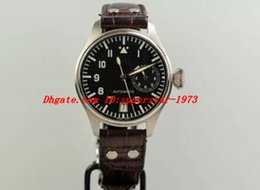 Wholesale Man Classic Bracelets Brown - Luxury Watches Brown Leather Bracelet Classic Big Pilot Power Rese Stainless Steel Watch 46mm 500201 5002 MAN WATCH Wristwatch