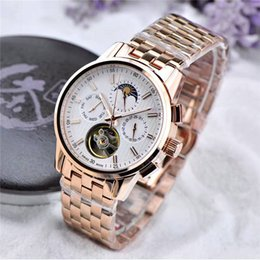 Wholesale Wristwatch 24 - Geneva New Listing Classic 185 Anniversary Luxury Mens Watches Automatic Mechanical Movement Flywheel 24 Hours Tourbillon Wristwatch