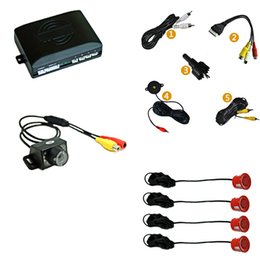 Wholesale Car Video Camera Parking System - FEELDO Car Rearview Parking Sensor + License Plate Camera Video Reverse Parking Sensor System #1550