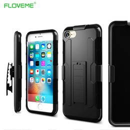 Wholesale S3 Military Case - FLOVEME Brand Military Hybrid Back Case For Samsung Galaxy S7 S6 Edge Plus S3 S4 S5 Note 2 3 4 5 For iPhone 7   7 Plus Grand