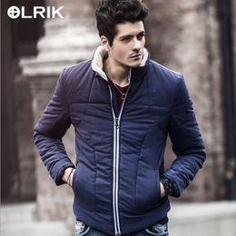 Wholesale Nordic Shorts - Wholesale- Olrik 2016 New Men Winter Coats Short Slim Men's Clothing Cotton Coat Parkas Winter Jackets Overcoats Nordic Style for Men