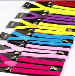 Tipi pantaloni uomo online-Gli uomini e le donne di colore della caramella di alta qualità di vendita calda dovrebbero essere pantaloni regolabili Cintura di maglia di tipo Y Cintura di rivestimento elastica cinghia regolabile DE01