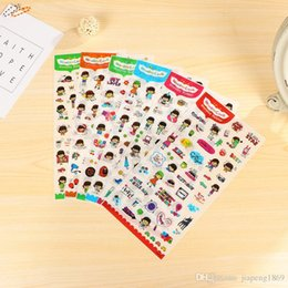 Wholesale Sweet Notebook - Sweet Little Girl Stickers Diy Album Diary Scrapbook Planner Decorations Calendar Notebook Decor Child Toys, 6sheets pack