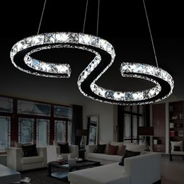 Wholesale Large Size Led Chandeliers - New Design S Type LED modern crystal chandelier lighting large size L630mm*H260mm 3 years warranty luxury pendant Free shipping