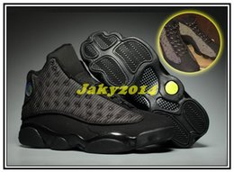 Wholesale Cheap Lace Fabric For Sale - Cheap Retro 13 OG Black Cat Basketball Shoes 3M Reflect For Men Sports Training Sneakers High Quality Blackcat Hot Sale