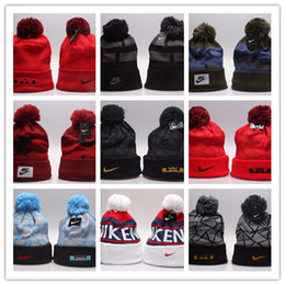 Wholesale Knit Beanie Hats Cheap - Cheap Wholesale Winter Warm Knitted Hat NY Letters Embroidered Beanie For Unisex Fashion Outdoor Caps Like Skiing Etc.