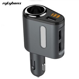 Wholesale android tablets usb ports - Wholesale- 3 USB Ports Car Phone Charger Adapter Voltage Monitor Triple USB Car Charger For iPhone Samsung Android Tablet Usb Car Charger