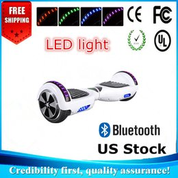 Wholesale Blue Electric Led - UL Approved Bluetooth Hoverboard Fast Free Ship From USA Warehouse With LED Light 2 wheels 6.5 Inch Electric Scooter Smart Blance Wheel