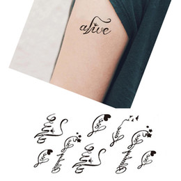 Wholesale Cheap Fake Tattoos - 5Pcs Waterproof Body Art Tattoo Heart Love Letters Temporary Tattoo Fake Sticker Decoration Temporary Tattoo Stickers Cheap